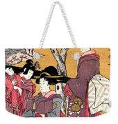 Cherry-viewing At Gotenyama Weekender Tote Bag