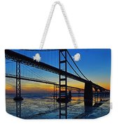 Chesapeake Bay Bridge Reflections Weekender Tote Bag by Bill Swartwout Photography
