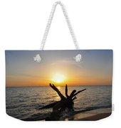 Chesapeake Bay Driftwood At Sunset Weekender Tote Bag