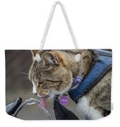 Chester At The Drinking Fountain Weekender Tote Bag