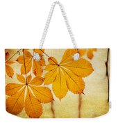 Chestnut Leaves At Autumn Weekender Tote Bag