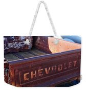 Chevrolet Apache 31 Pickup Truck Tail Gate Emblem Weekender Tote Bag