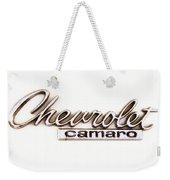 Chevrolet Camaro Emblem Weekender Tote Bag