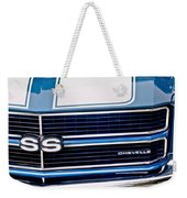 Chevrolet Chevelle Ss Grille Emblem 2 Weekender Tote Bag by Jill Reger