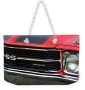 Chevrolet Chevelle Ss Grille Emblem Weekender Tote Bag