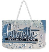 1966 Chevrolet Corvette Sting Ray Emblem -0052c Weekender Tote Bag