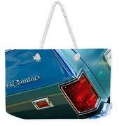 Chevrolet El Camino Taillight Emblem Weekender Tote Bag