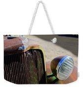 Chevrolet Grille Emblem - Head Light Weekender Tote Bag
