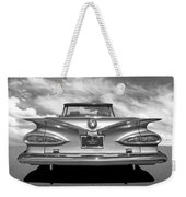 Chevrolet Impala 1959 In Black And White Weekender Tote Bag