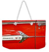 Chevrolet Impala Classic In Red Weekender Tote Bag