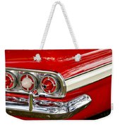 Chevrolet Impala Classic Rear View Weekender Tote Bag