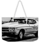 Chevy Chevrolet Chevelle Ss Burning Rubber Weekender Tote Bag
