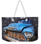 Chevy In The Woods Weekender Tote Bag by Debra and Dave Vanderlaan