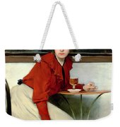 Chica In A Bar Weekender Tote Bag