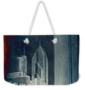 Chicago 4 Tall Shoulders Textured Weekender Tote Bag