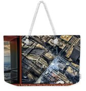 Chicago A View From The Top Of Sears Willis Tower Hdr Triptych 3 Panel Weekender Tote Bag