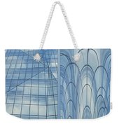 Chicago Abstract Before And After Blue Glass 2 Panel Weekender Tote Bag