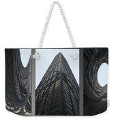 Chicago Abstract Before And After John Hancock Sw Facades Triptych 3 Panel Weekender Tote Bag