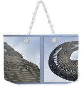 Chicago Abstract Before And After Radisson Blu Hotel 2 Panel Weekender Tote Bag
