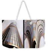 Chicago Abstract Before And After Sunrays On Trump Tower 2 Panel Weekender Tote Bag