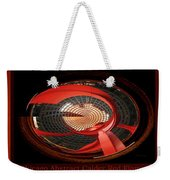 Chicago Abstract Calder Red Flamingo Triptych 3 Panel Weekender Tote Bag