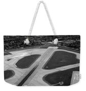 Chicago Airplanes 04 Black And White Weekender Tote Bag