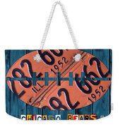 Chicago Bears Football Recycled License Plate Art Weekender Tote Bag