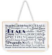 Chicago Bears Game Day Food 3 Weekender Tote Bag