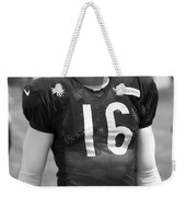 Chicago Bears P Patrick O'donnell Training Camp 2014 Bw Weekender Tote Bag