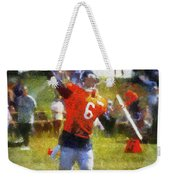 Chicago Bears Qb Jay Cutler Training Camp 2014 04 Photo Art 02 Weekender Tote Bag