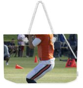 Chicago Bears Qb Jimmy Clausen Training Camp 2014 03 Weekender Tote Bag