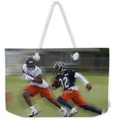 Chicago Bears Rb Michael Ford Moving The Ball Training Camp 2014 Weekender Tote Bag