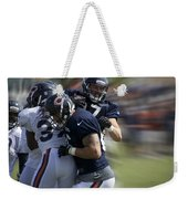 Chicago Bears Te Jeron Mastrud Moving The Ball Training Camp 2014 Weekender Tote Bag