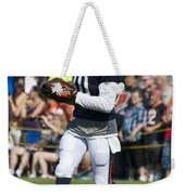 Chicago Bears Wr Armanti Edwards Training Camp 2014 07 Weekender Tote Bag