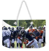 Chicago Bears Wr Brandon Marshall Training Camp 2014 05 Weekender Tote Bag