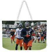 Chicago Bears Wr Brandon Marshall Training Camp 2014 06 Weekender Tote Bag