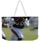 Chicago Bears Wr Chris Williams Moving The Ball Training Camp 2014 Weekender Tote Bag