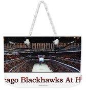 Chicago Blackhawks At Home Panorama White Weekender Tote Bag