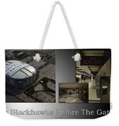 Chicago Blackhawks Before The Gates Open Interior 2 Panel Sb 01 Weekender Tote Bag