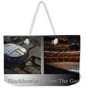 Chicago Blackhawks Before The Gates Open Interior 2 Panel Sb Weekender Tote Bag