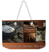 Chicago Blackhawks Before The Gates Open Interior 2 Panel Tan 01 Weekender Tote Bag