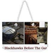 Chicago Blackhawks Before The Gates Open Interior 2 Panel White 02 Weekender Tote Bag