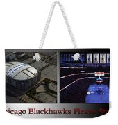 Chicago Blackhawks Please Stand 2 Panel Sb Weekender Tote Bag