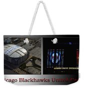 Chicago Blackhawks United Center 2 Panel Sb Weekender Tote Bag