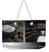 Chicago Blackhawks Zamboni Break Time 2 Panel Sb Weekender Tote Bag