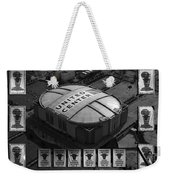 Chicago Bulls Banners In Black And White Weekender Tote Bag by Thomas Woolworth