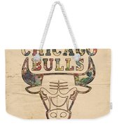 Chicago Bulls Logo Vintage Weekender Tote Bag