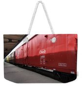 Chicago Burlington Quincy Freight Cars Weekender Tote Bag