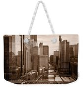 Chicago City View Afternoon B And W Weekender Tote Bag