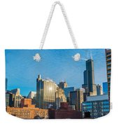 Chicago Cityscape During The Day Weekender Tote Bag